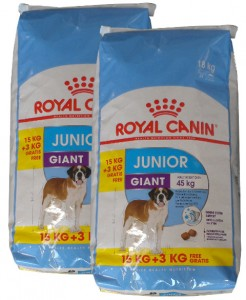 2x15kg + 6kg GRATIS Royal Canin GIANT Junior