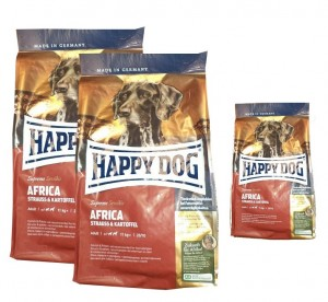 2x12,5kg + 4kg = 29kg Happy Dog Supreme Sensible Africa