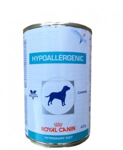 12x400g Royal Canin Hypoallergenic Veterinary Diet Nassfutter Dose
