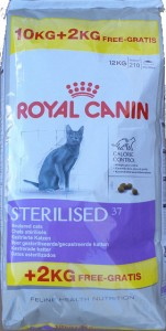 10kg + 2kg GRATIS Royal Canin Sterilised 37