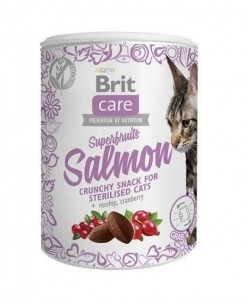 100g  Brit Care Cat Snack Superfruits  Salmon Katzensnacks