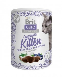 100g  Brit Care Cat Snack Superfruits Kitten Katzensnacks