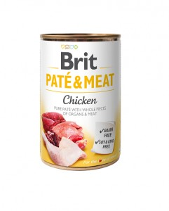 BRIT PATE & MEAT CHICKEN Nassfutter Hundefutter Dosen