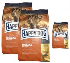 2x12,5kg + 4kg = 29kg Happy Dog Supreme Sensible Toscana