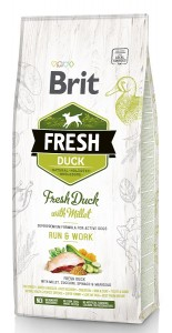 Brit Fresh Adult Duck & Millet, Run & Work, Hundefutter für aktive Hunde