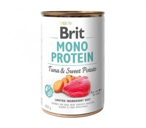 BRIT MONO PROTEIN TUNA & SWEET POTATO Nassfutter Hundefutter Dosen