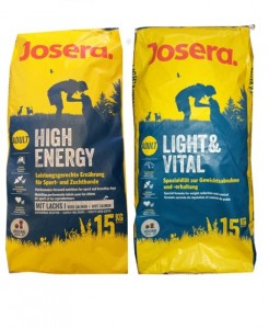 15kg Josera High Energy + 15kg Josera Light Vital