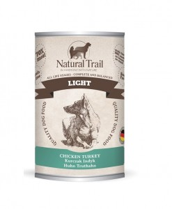 5x800g  + 800g GRATIS Natural Trail LIGHT Super Premium Nassfutter für Hunde Hundefutter