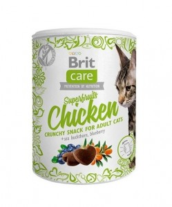 100g  Brit Care Cat Snack Superfruits Chicken Katzensnacks