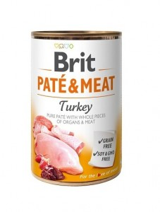 BRIT PATE & MEAT TURKEY Nassfutter Hundefutter Dosen