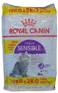 10kg + 2kg GRATIS = 12kg Royal Canin Sensible 33