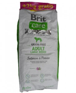 12kg + 2kg GRATIS Brit Care Grain-free Adult Large Breed Salmon & Potato