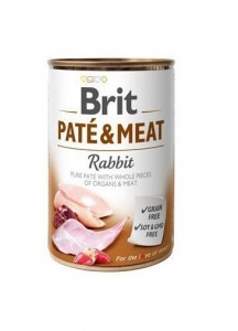 BRIT PATE & MEAT RABBIT Nassfutter Hundefutter Dosen