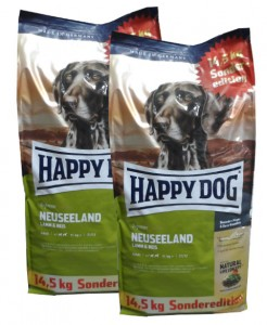 2 x 14,5kg = 29kg Happy Dog NEUSEELAND Hundefutter SONDEREDITION