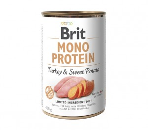 BRIT MONO PROTEIN TURKEY & SWEET POTATO Nassfutter Hundefutter Dosen