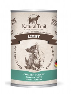 5x400g  + 400g GRATIS Natural Trail LIGHT Super Premium Nassfutter für Hunde Hundefutter
