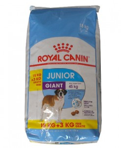 15kg + 3kg GRATIS Royal Canin GIANT Junior