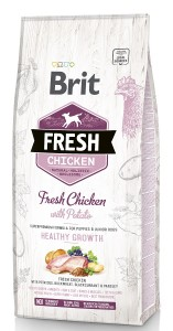 Brit Fresh Puppy & Junior Chicken & Potato Healthy Growth Hundefutter