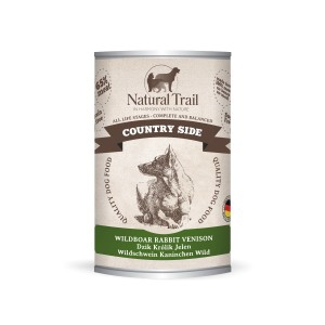 5x800g  + 800g GRATIS Natural Trail COUNTRY SIDE Super Premium Nassfutter für Hunde Hundefutter