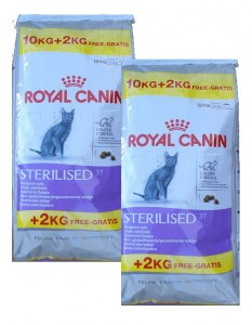 2x10kg + 4kg GRATIS Royal Canin Sterilised 37