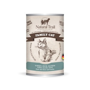 5x400g  + 400g GRATIS Natural Trail FAMILY CAT  Super Premium Nassfutter für Katzen Katzenfutter