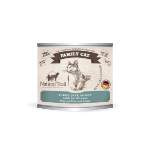 5x200g  + 200g GRATIS Natural Trail FAMILY CAT  Super Premium Nassfutter für Katzen Katzenfutter